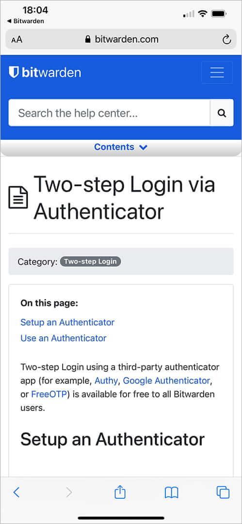 bitwarden_autenticação_netsegura